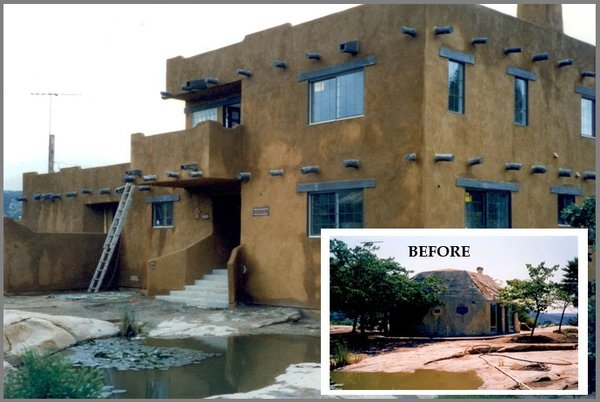 before and after home construction